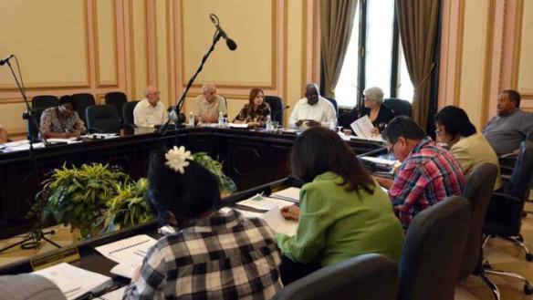 Realizan reunión de Presidentes Provinciales, en el Capitolio, La Habana, Cuba, el 10 de marzo de 2017.