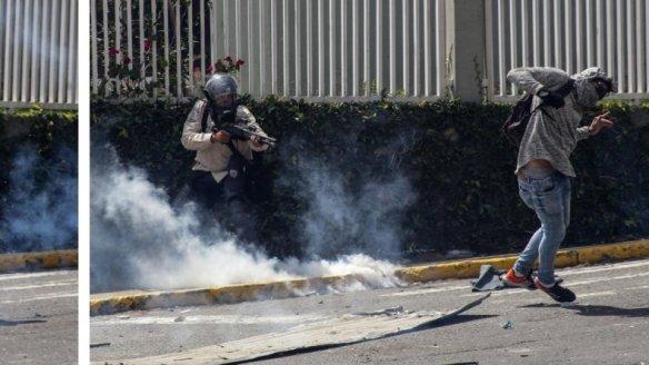 Resultado de imagen para imagen de GNB disparando a quema ropa