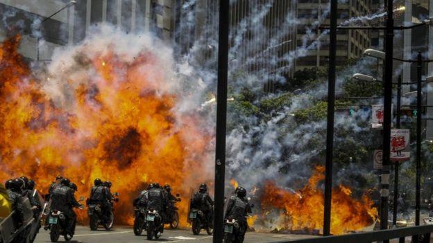 Protestas en Venezuela.
