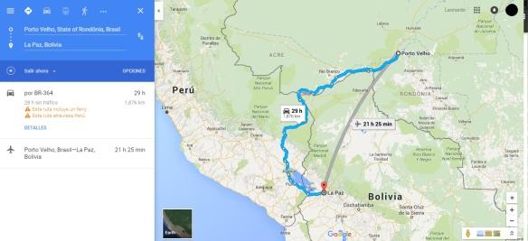 Viajar a Porto Velho a La Paz en Bus