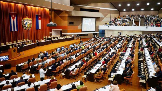 Reunión de la Asamblea Nacional de Cuba.